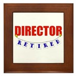 Retired Director Framed Tile