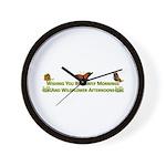 Butterfly Mornings Wall Clock