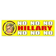 No Hillary Bumper Bumper Sticker