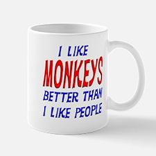 I Like Monkeys Mug