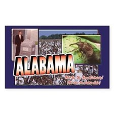 Alabama Rectangle Decal