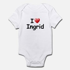 I Love Ingrid (Black) Infant Bodysuit