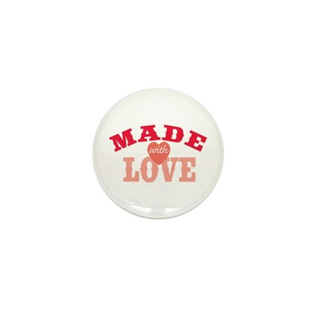 Made With Love Mini Button (100 pack)