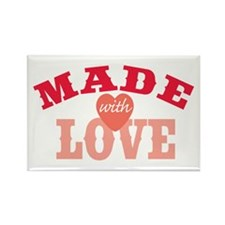 Made With Love Rectangle Magnet