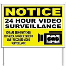 24 Hour Surveillance Yard Sign