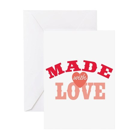 Made With Love Greeting Card