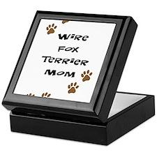 Wire Fox Terrier Mom Keepsake Box