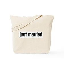 Just Married (block-black) Tote Bag