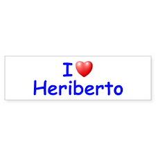 I Love Heriberto (Blue) Bumper Bumper Sticker