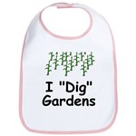 "I ""Dig"" Gardens Bib"