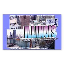 Illinois Rectangle Decal