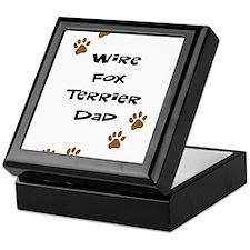Wire Fox Terrier Dad Keepsake Box