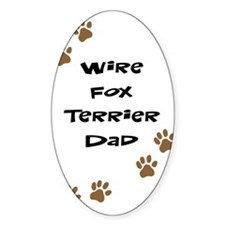 Wire Fox Terrier Dad Oval Decal