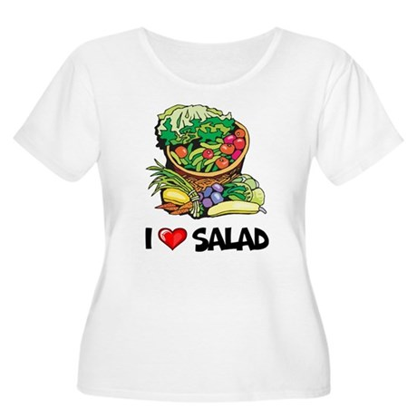 I Love Salad Women's Plus Size Scoop Neck T-Shirt