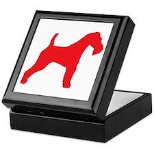 Red Wire Fox Terrier Keepsake Box