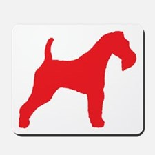 Red Wire Fox Terrier Mousepad