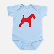 Red Wire Fox Terrier Infant Bodysuit