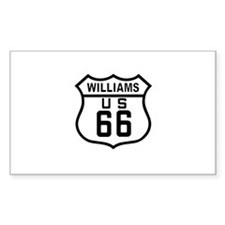 Williams, Arizona Route 66 Rectangle Decal