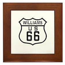 Williams, Arizona Route 66 Framed Tile