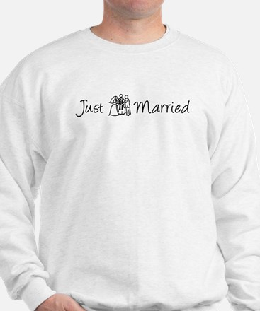 Just Married (Bride & Groom)  Sweatshirt