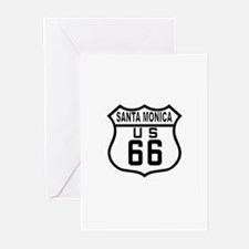 Santa Monica Route 66 Greeting Cards (Pk of 10)