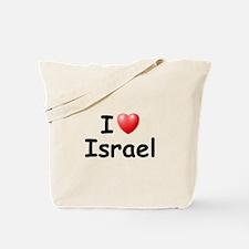 I Love Israel (Black) Tote Bag