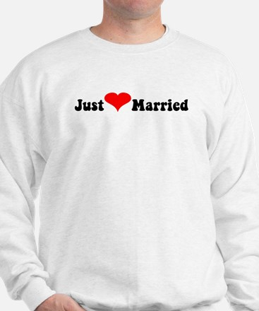 Just Married (heart)  Sweatshirt