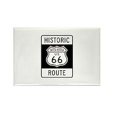 Santa Monica Historic Route 6 Rectangle Magnet