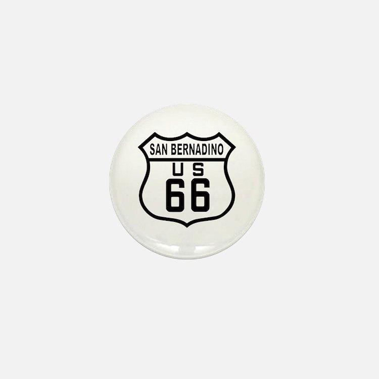 San Bernadino Route 66 Mini Button