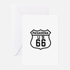Pasadena Route 66 Greeting Cards (Pk of 10)