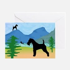 Wild River Wire Fox Terrier Greeting Card