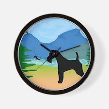 Wild River Wire Fox Terrier Wall Clock