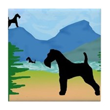 Wild River Wire Fox Terrier Tile Coaster