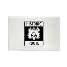 Los Angeles Historic Route 66 Rectangle Magnet (10