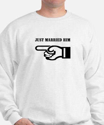 Just Married (him) Sweatshirt