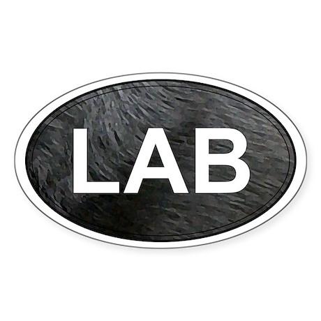 Labrador Retriever Oval Sticker (Black Lab)