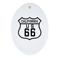 California Route 66 Oval Ornament