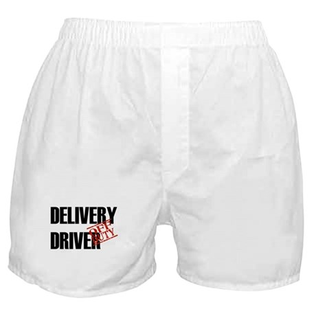 Off Duty Delivery Driver Boxer Shorts