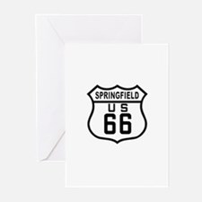 Springfield Route 66 Greeting Cards (Pk of 10)