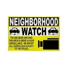 Neighborhood Watch Rectangle Magnet