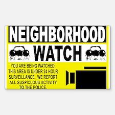 Neighborhood Watch Rectangle Decal