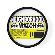 Neighborhood Watch Wall Clock