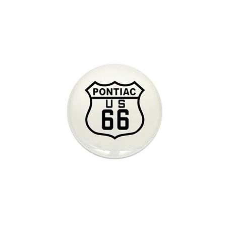 Pontiac Route 66 Mini Button (10 pack)