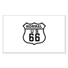 Normal Route 66 Rectangle Decal