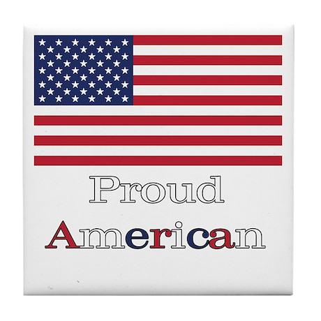 Proud American Tile Coaster