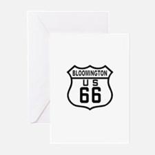 Bloomington Route 66 Greeting Cards (Pk of 10)