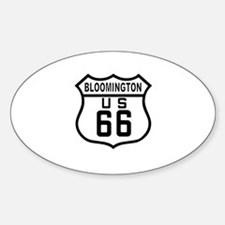 Bloomington Route 66 Oval Decal