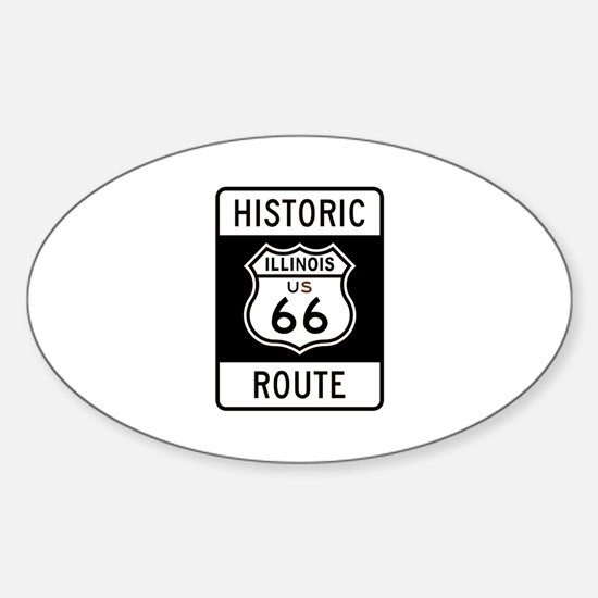 Illinois Historic Route 66 Oval Decal