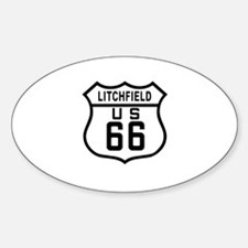 Litchfield Route 66 Oval Decal