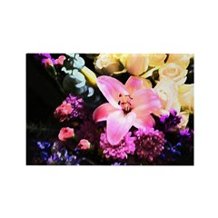 Flower Art Rectangle Magnet (10 pack)